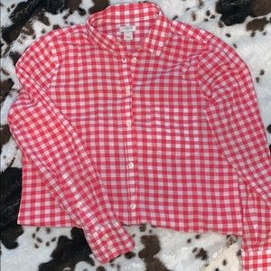 Red checkered JCrew button down